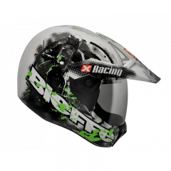 Capacete Cross 3 Sport Xracing Bc/verde 61