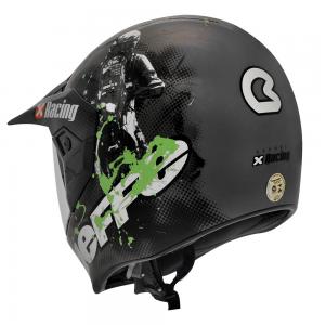 Capacete Cross 3 Sport Xracing Cinza/verde 61