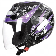 Capacete New Atomic For Girls Pto/lilas 56